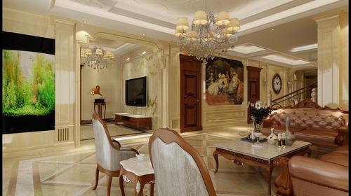 碧波枫林    别墅     欧式风格    客厅