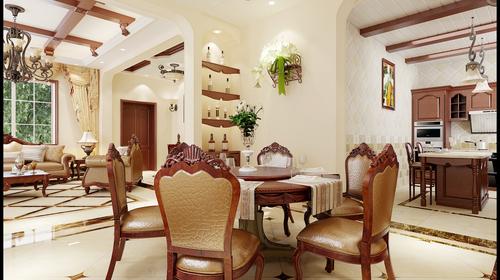 天镜南苑      别墅     美式风格   餐厅